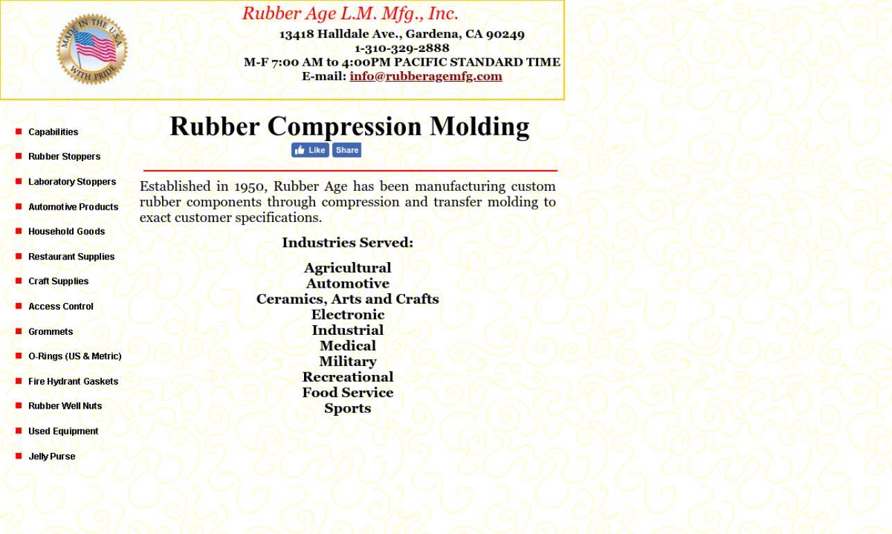Rubber Age L.M. Mfg., Inc.